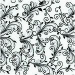 Isabella - Black and White Vine Design