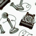 Masquerade Party - Tossed Vintage Phones in Black and White