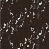 Opus - Dancing Diagonal Notes and Symbols in Gray and White