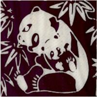 Black and White Panda Bear Batik