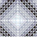 Prism Break - Black  White and Gray Geometric Diamonds