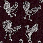 Farm Raised - Happy Roosters and Hens in Black and White