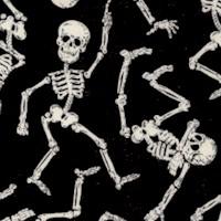 Tossed Whimsical Glow in the Dark Dancing Skeletons