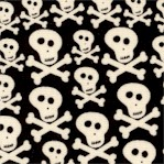 Gone Haunting - Small Scale Skulls and Crossbones by Sue Zipkin