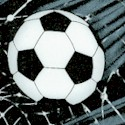 Tossed Soccer Balls and Nets in Black and White - BACK IN STOCK