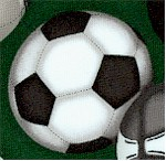 Sports Life 3 - Tossed Soccer Balls on Green