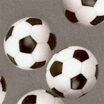 Sports Life - Tossed Soccer Balls on Gray
