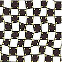Sunny Side Up Funky Checkerboard in Black and White