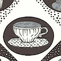 Tea for Two - Black and White Teacups and More by Whistler Studio