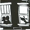 City - Apartment Window Scenes in Black and White - BACK IN STOCK!