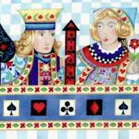 Royal Family - Playing Card Vertical Stripe by Jim Shore