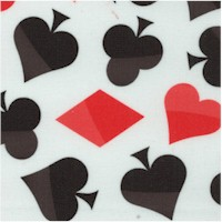 Poker Symbols - Tossed Card Suits on White
