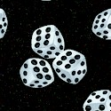 Tossed Dice in Black and White